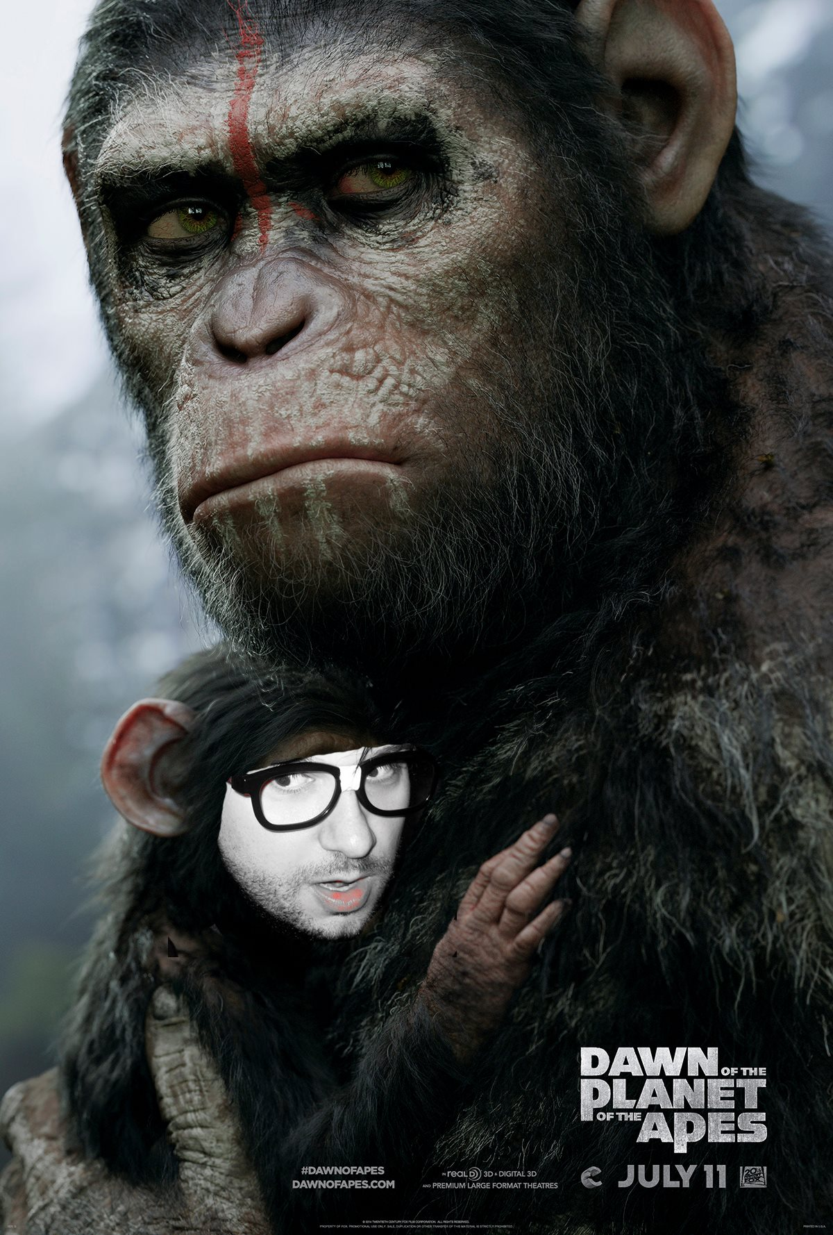 Caesar Monkey Drawing b Caesar Andy Serkis is