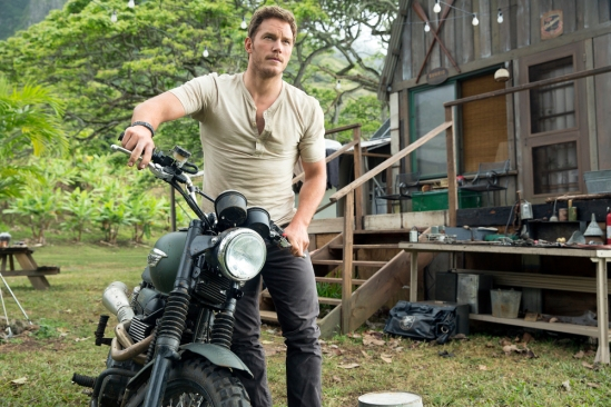 Chris Pratt in a scene from the trailer for the motion picture