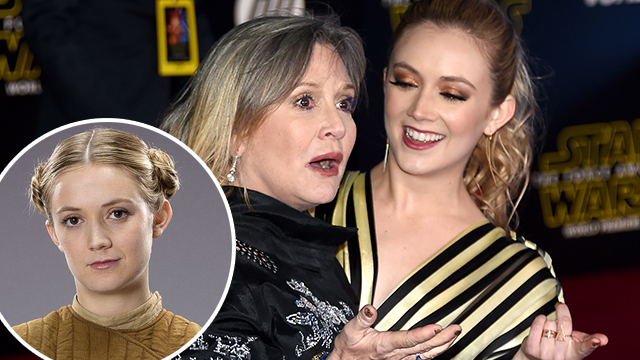 "HOLLYWOOD, CA - DECEMBER 14: Actresses Carrie Fisher (L) and Billie Lourd attend the Premiere of Walt Disney Pictures and Lucasfilm's ""Star Wars: The Force Awakens"" at the Dolby Theatre on December 14, 2015 in Hollywood, California. (Photo by Ethan Miller/Getty Images)"