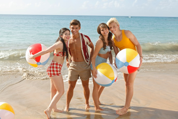 "TEEN BEACH MOVIE - Disney Channel's ""Teen Beach Movie"" stars Grace Phipps as Lela, Garrett Clayton as Tanner, Maia Mitchell as McKenzie and Ross Lynch as Brady. (DISNEY CHANNEL/BOB D'AMICO)"